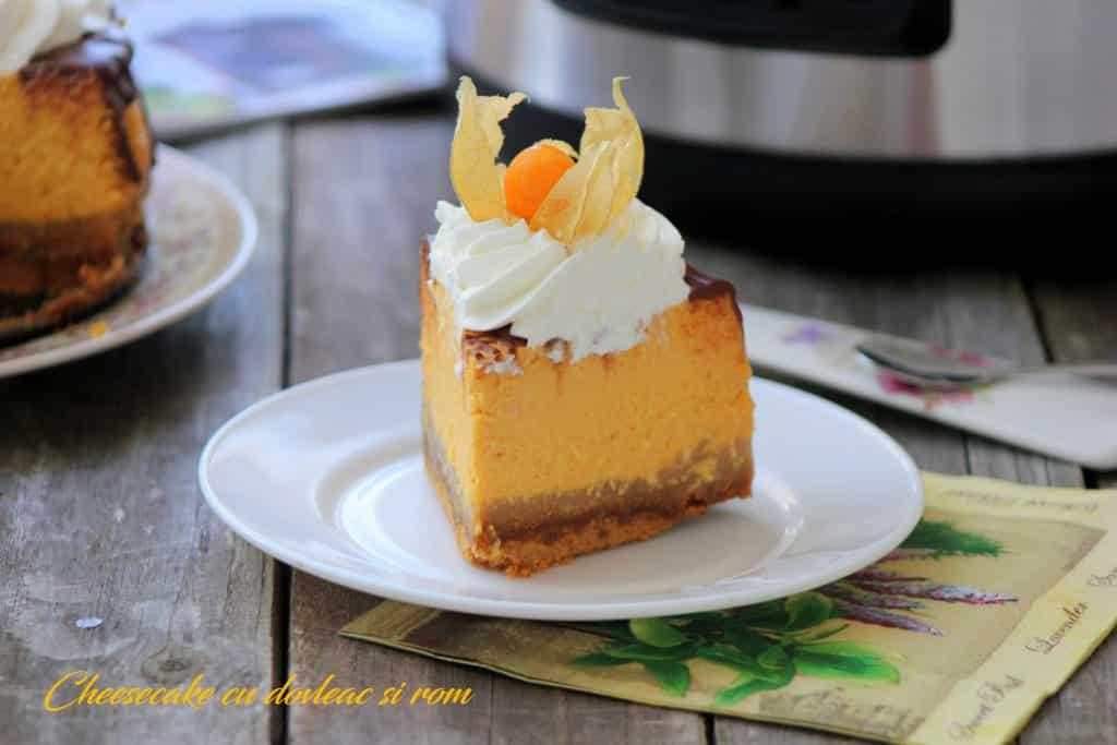 Cheesecake cu dovleac
